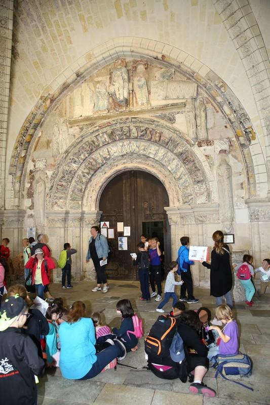 Portail polychrome de la Collégiale Saint-Ours