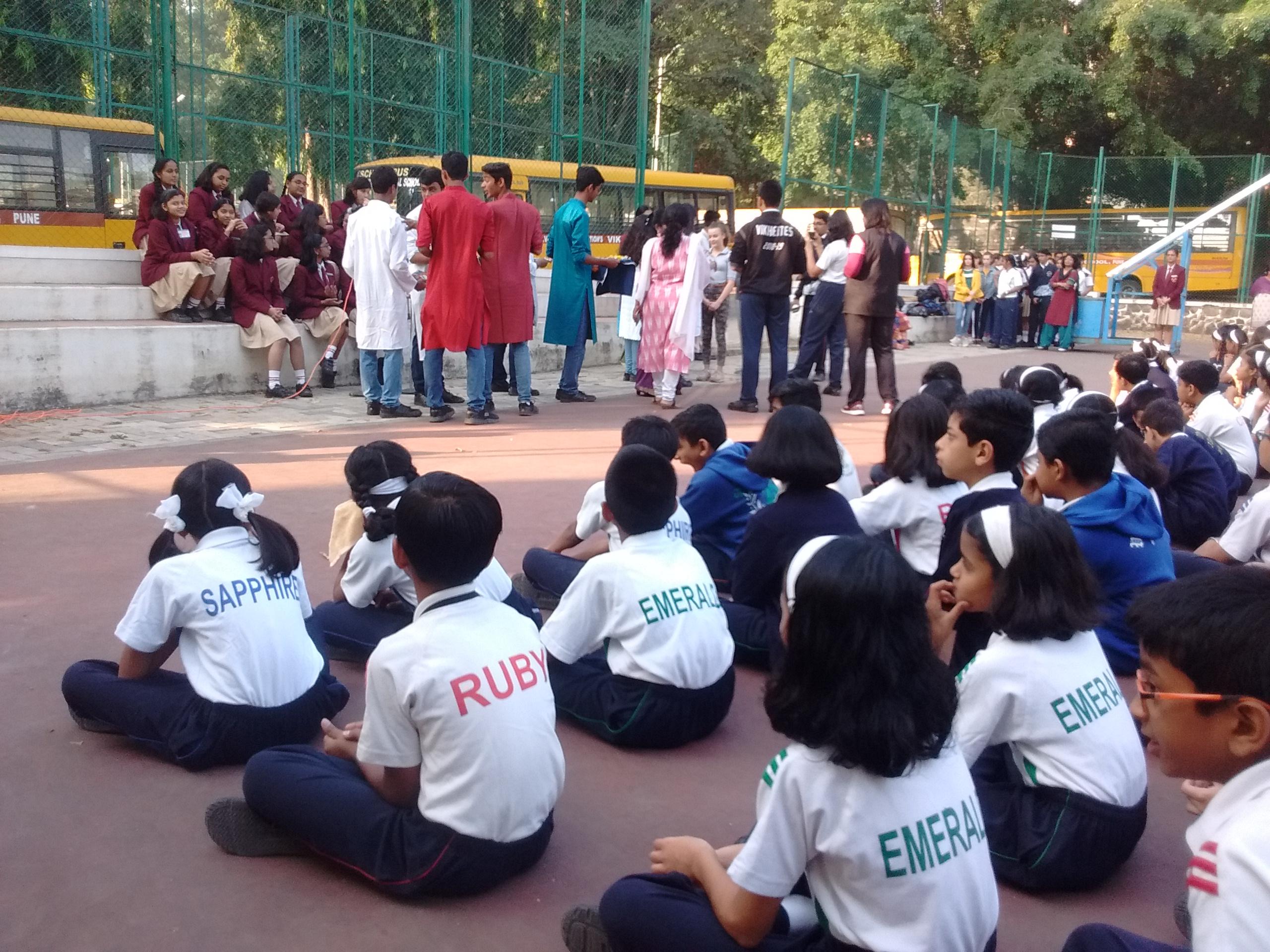Les élèves de VPMS, nos correspondants indiens