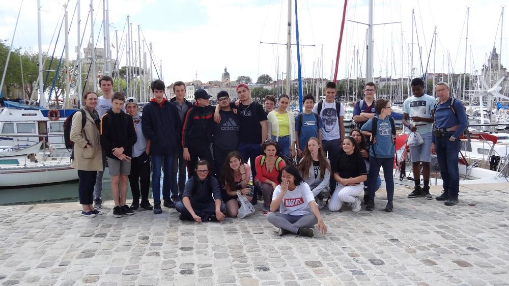 Le groupe à la Rochelle