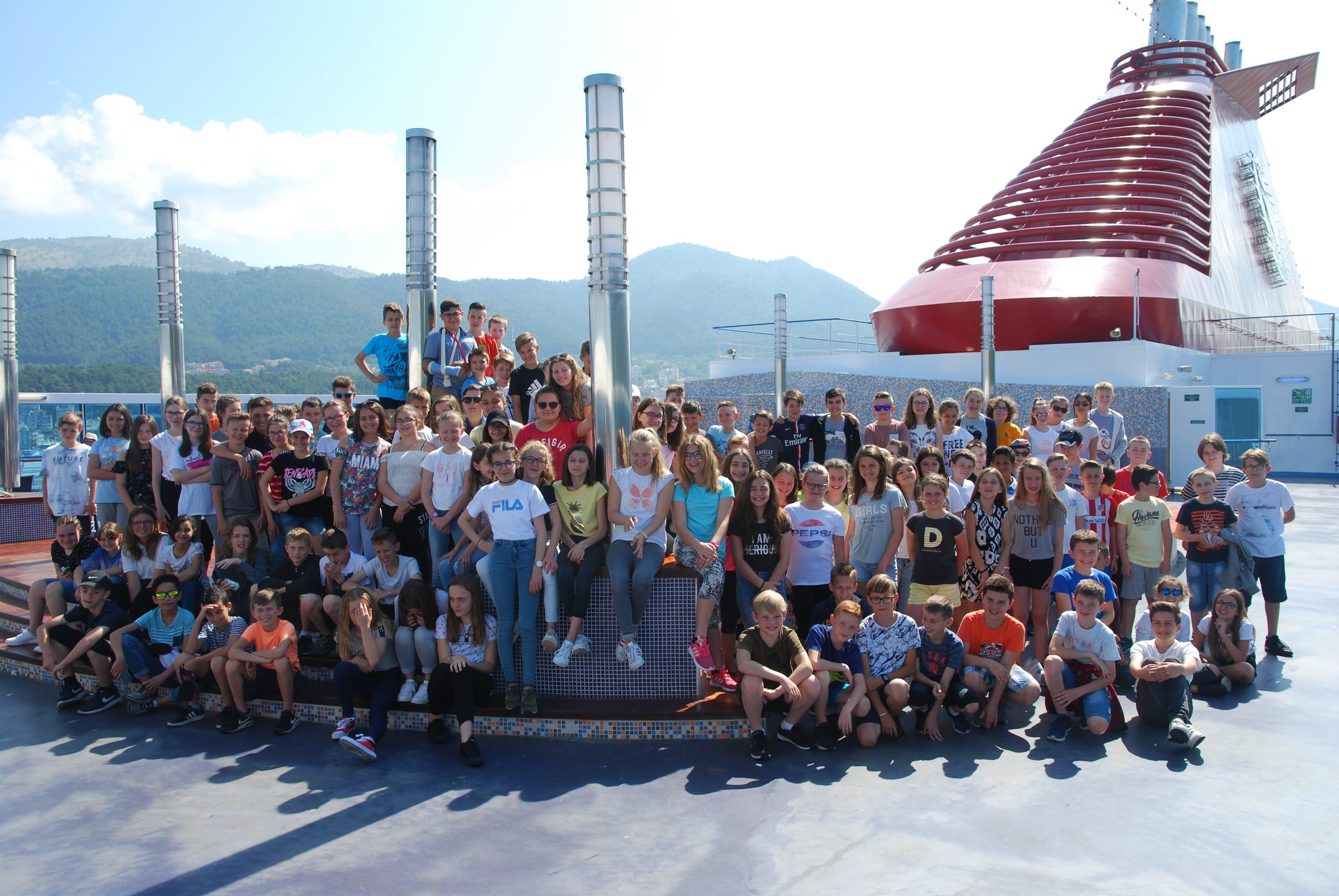 sur le bateau vers la Grèce en 2018