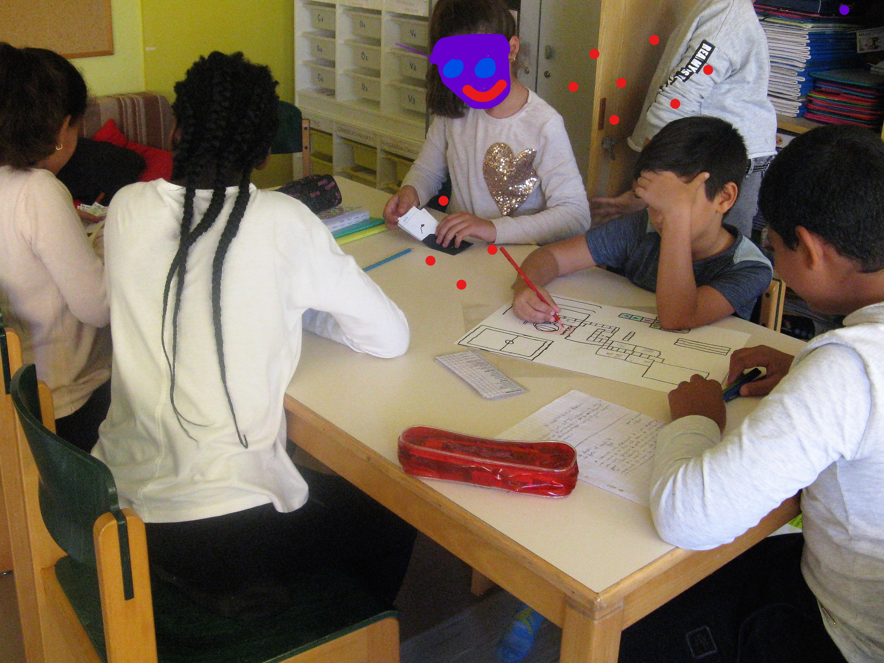 nous vons l'habitude de travailler en petit groupe en classe