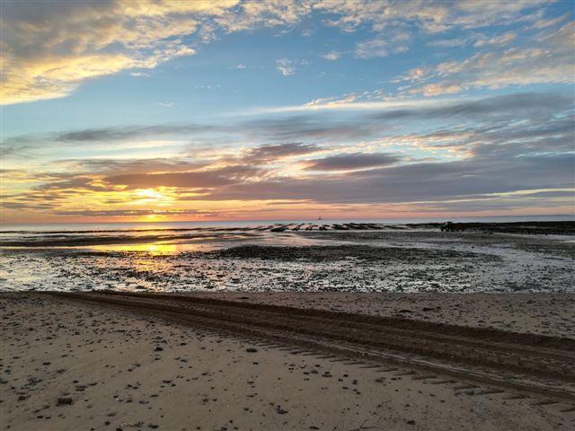 le coucher de soleil à Gouvill