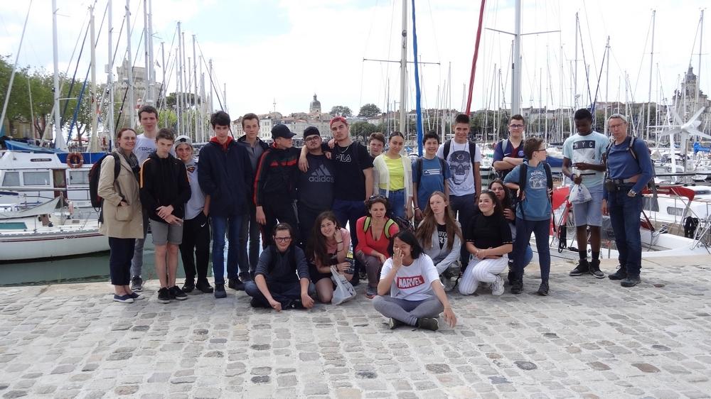 Les élèves lors du précédent séjour en juin 2019.