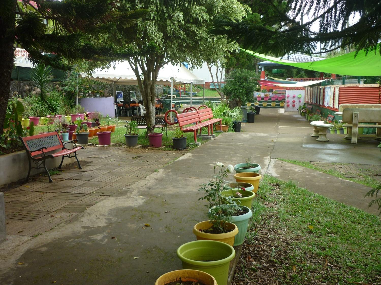 Le jardin du centre de lecture/écriture