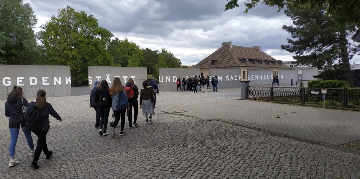 L'entrée du mémorial du camp de concentration de Sachsenhausen