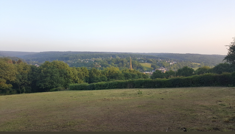 EUPEN, vue sur les Ardennes.
