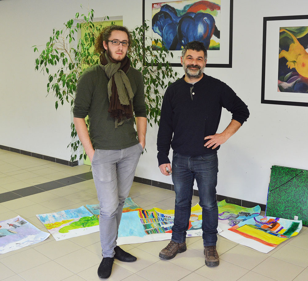 Les artistes Clément Keller et Cayu