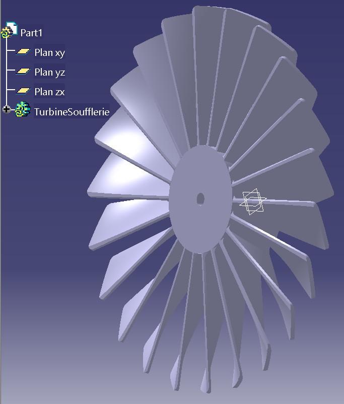 Modélisation Catia V5 réalisée au collège par Kyllian.